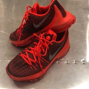 EUC Neon Red Nike Kevin Durant Basketball Shoes 5Y